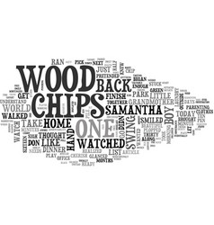 Wood chips text word cloud concept vector