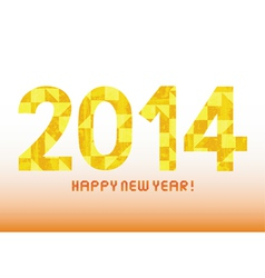 Yellow pattern new year 2014 vector