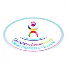 children community symbol vector image