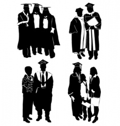 graduate with family vector image vector image