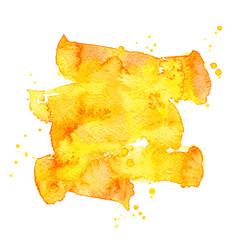 orange watercolor brush stroke background vector image vector image