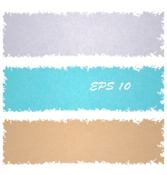 Set of grungy banners vector image