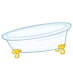 standing bathtub vector image vector image