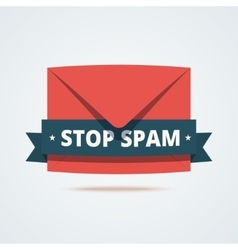 Stop spam vector image vector image