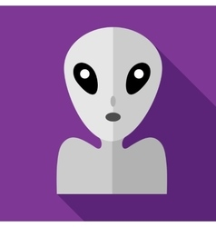 Alien icon in flat style vector image vector image