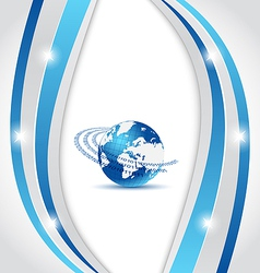 Business card with Earth planet vector image vector image