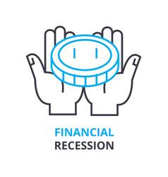 financial recession concept outline icon linear vector image vector image