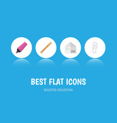flat icon equipment set of letter marker vector image vector image