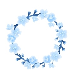 Graphic sakura wreath vector image vector image