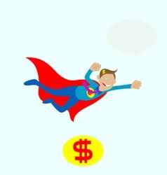 Mr dolar flying vector