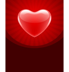 red glossy heart vector image vector image