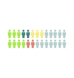 Social media people icons think different vector