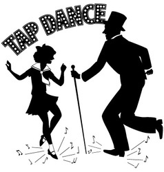 Tap Dance Teacher vector image