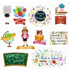 back to school and children education concept vector image