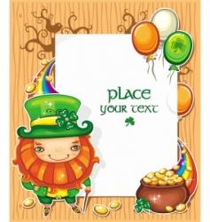 St Patrick's day cartoon frame vector image