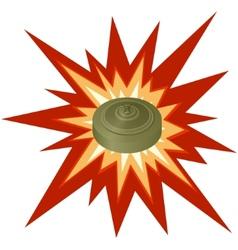 Antitank mine vector image vector image