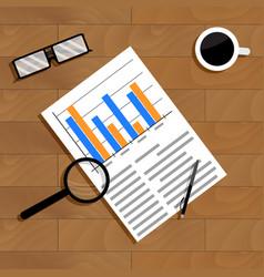 economics and statistics vector image