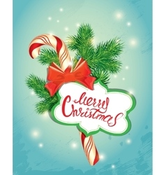Holiday New Year greeting Card with xmas candy vector image vector image