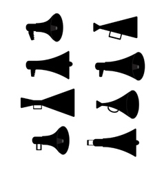 Horn Silhouette Set vector image