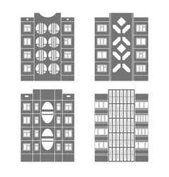 Panel houses set3 vector image