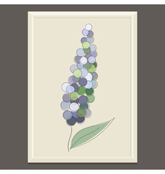 Purple spring flower vector image vector image