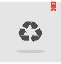 Recycle sign in white color - isolated vector image vector image