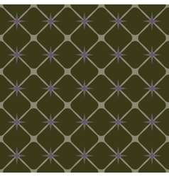 Square and star geometric seamless pattern vector image