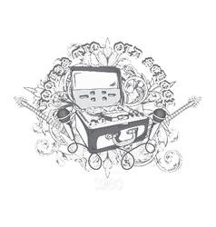 vintage music t-shirt design vector image vector image