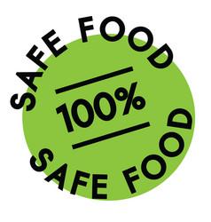 100 percent safe food label vector image
