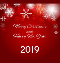 2019 happy new year and merry christmas background vector