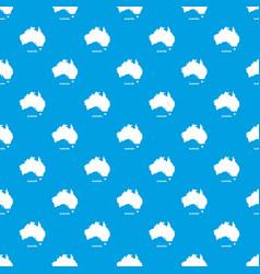 australia map pattern seamless blue vector image