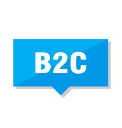 b2c price tag vector image