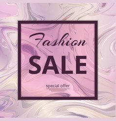 banner template fashion sales vector image