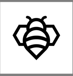 bee logo in modern line style vector image
