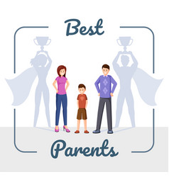 best parents flat happy vector image