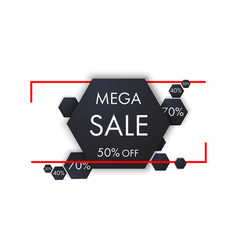 big sale banner sale and discounts vector image
