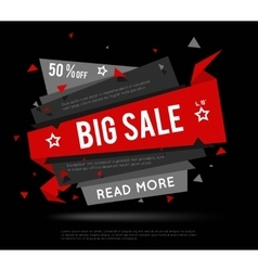 Black Sale Banner vector