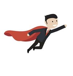businessman flies up vector image