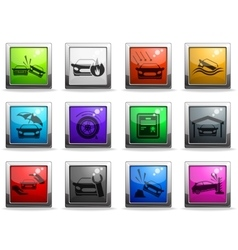 Car Insurance Icons set vector