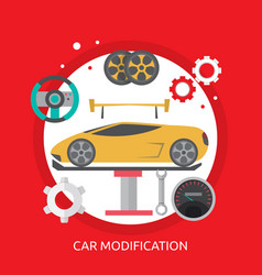 Car modification conceptual design vector