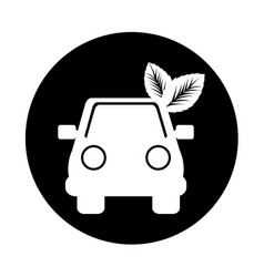 Car with leafs icon vector