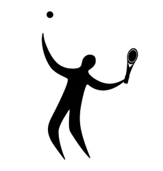 Champion athlete playing tennis vector image