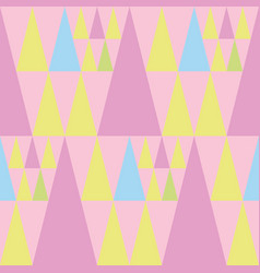 cheerful pink blue and green triangles of vector image