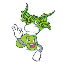Chef wasabi character cartoon style vector