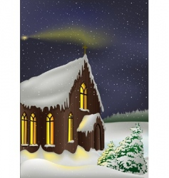 christmas church vector image