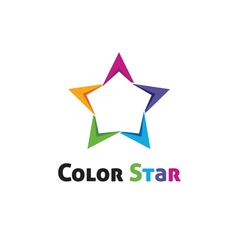 Color star vector image