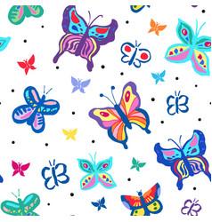 colorfful butterflies vector image