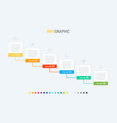 colorful diagram infographic template timeline vector image