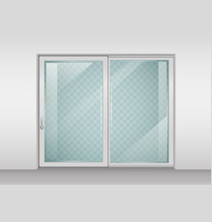 Contemporary sliding door vector