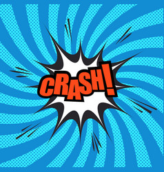 Crash comic template vector